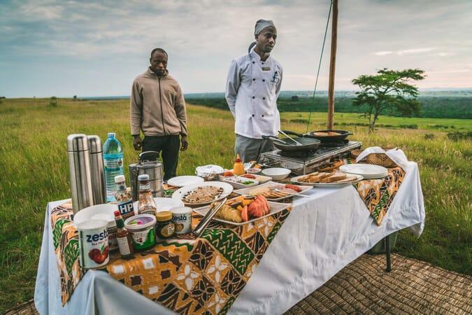 Ishasha Wilderness bush breakfast